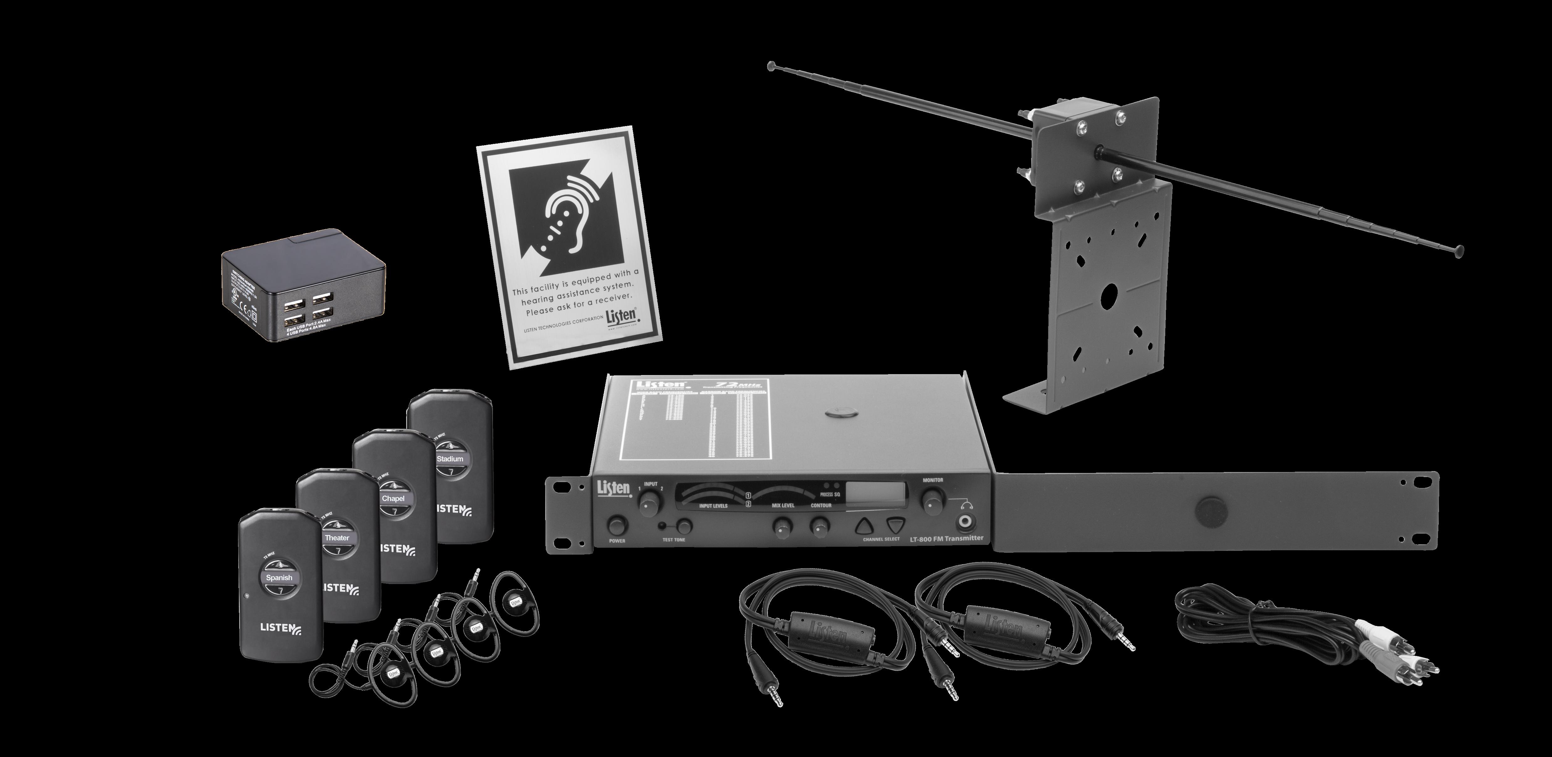 Listen iDSP Prime Level II Stationary RF System (72 MHz) - Listen ...