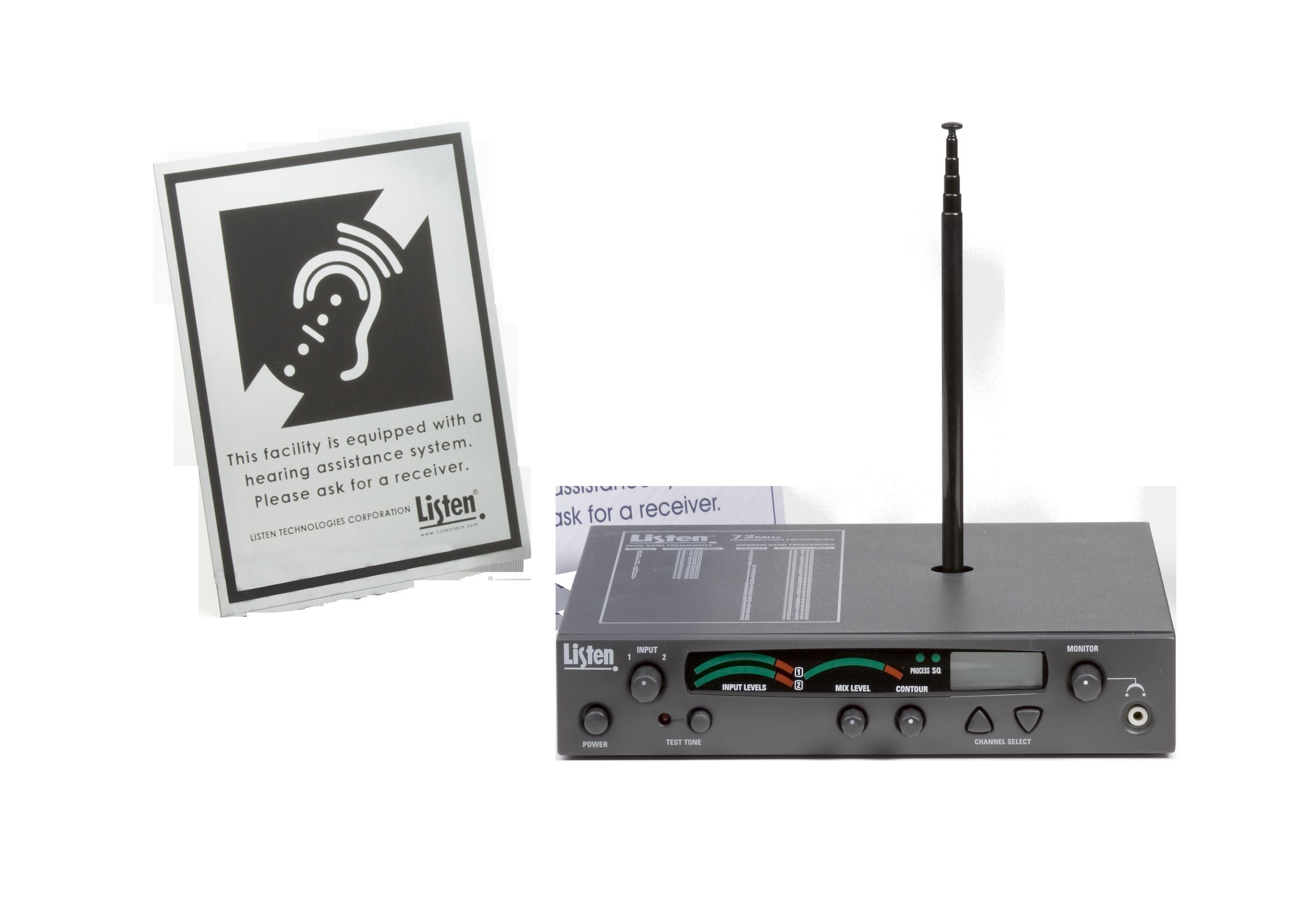 Stationary Rf Transmitter Package 1 72 Mhz Listen Technologies Mixed Signal Transceiver