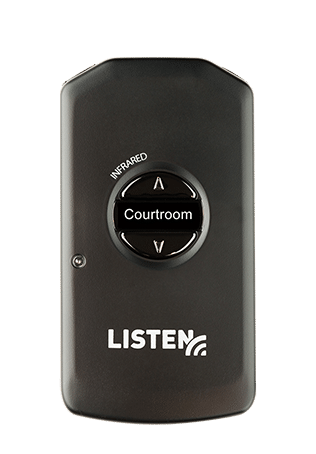 ListenIR 4200 Receiver with Courtroom on screen