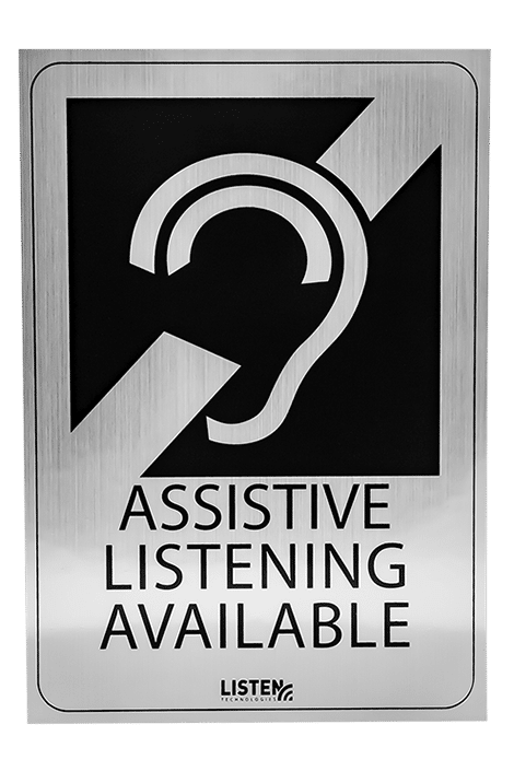 Assistive Listening Available Signage for venue