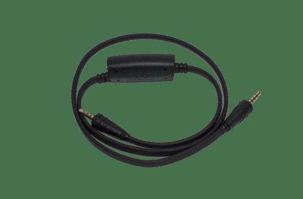 Intelligent earphone/ neckloop lanyard with dual 3.5 mm audio inputs