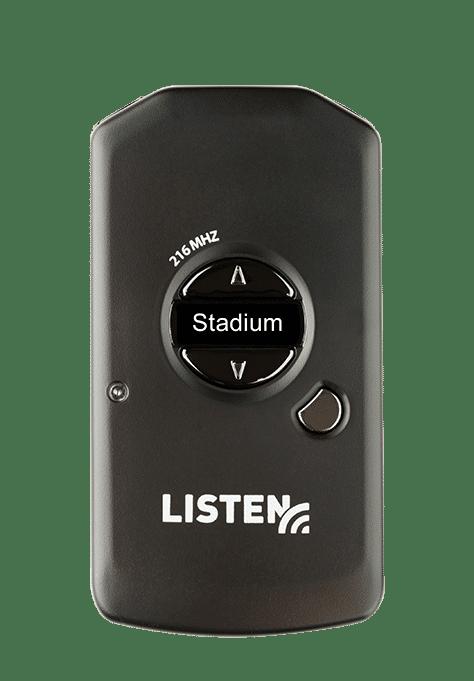 Listen RF Receiver with Stadium written on it