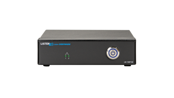 Front view of Listen EVERYWHERE 2 channel server.