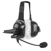 Listen Technologies over a hardhat, Headset with microphone and white, elastic held, LA-455 Sanitary Covers
