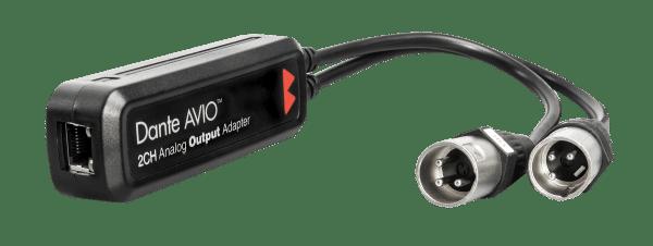 Black Dante 2 Channel Output XLR Adapter