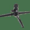 Table-top tripod, black, three legs, Oben brand on base
