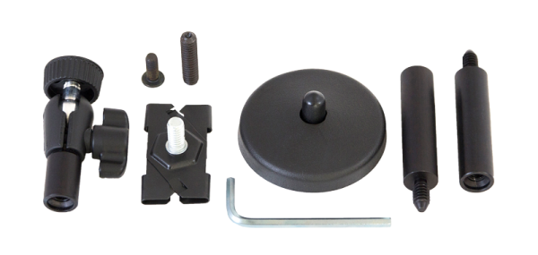 Collection of pieces of replacement mounting hardware for assistive listening devices