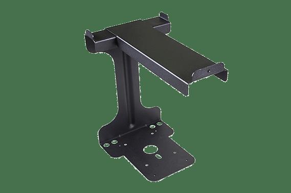 Black metal bracket for intelligent cable management unit