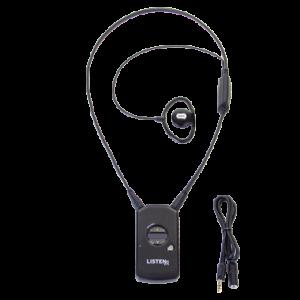 Infrared receiver w/neck loop lanyard & ear speaker