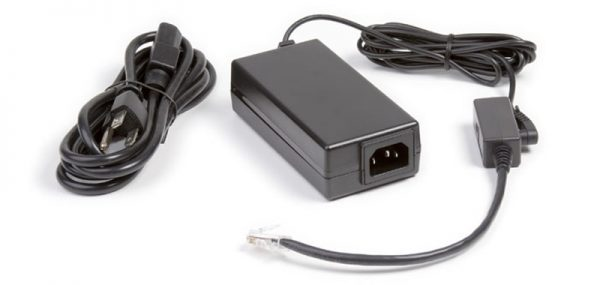 Power cord and supply box for a charging tray with two separate cords