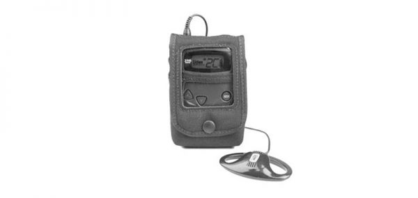 Protective pouch shown with an RF Receiver inside