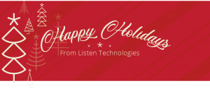 Happy Holidays from Listen Technologies banner