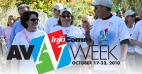People attending infocomm AV week 2010