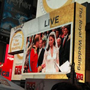 British Royal wedding viewing party at Times Square