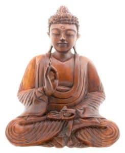Buddha figurine made out of wood.