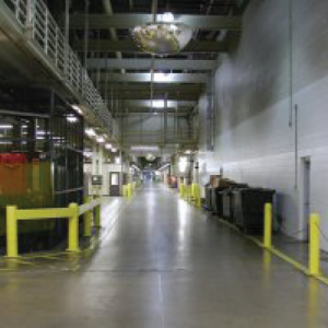 Subaru manufacturing plant. Hallway of facility.