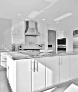 Modern kitchen with cabinets from Karman