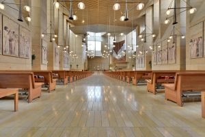 Inside view of the Cathedral of our Lady building.