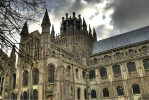 Frontal view of the ELY cathedral